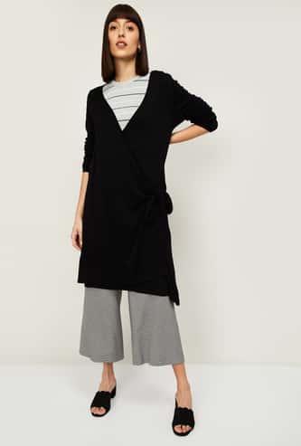 VAN HEUSEN Women Textured Longline Sweater