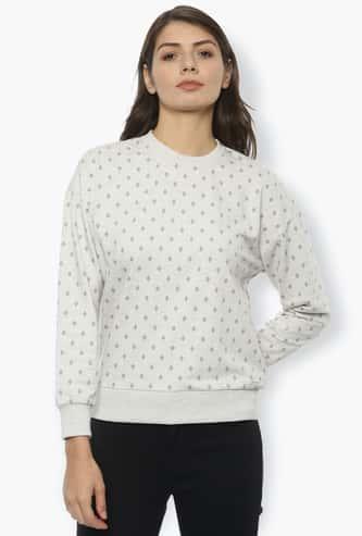 VAN HEUSEN Women Printed Round Neck Sweatshirt