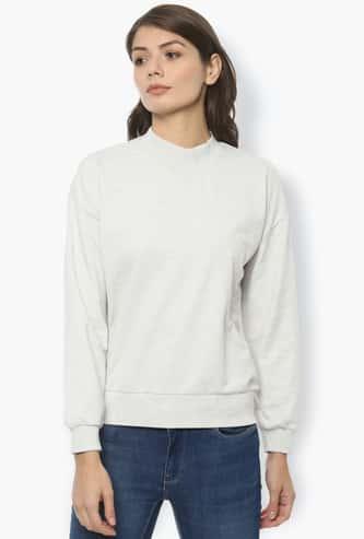 VAN HEUSEN Women Textured Drop-Shoulder Sweatshirt