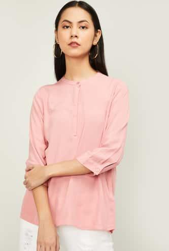 BOSSINI Women Solid Three-quarter Sleeves Top