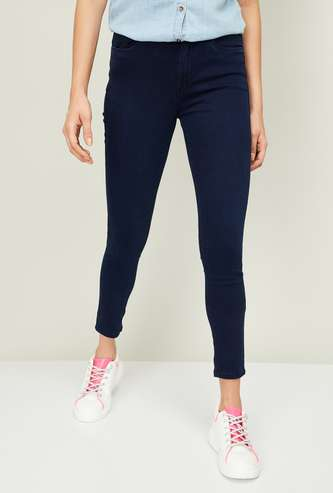 KRAUS Women Solid Skinny Cropped Jeans