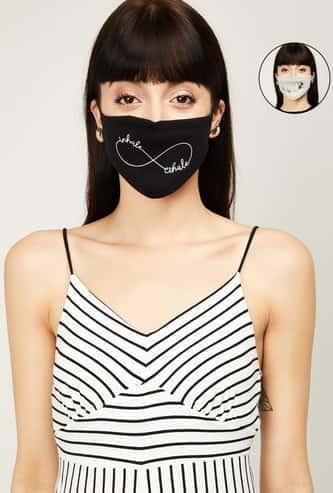 GINGER Women Printed Reusable Masks - Pack of 2