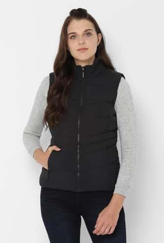 ALLEN SOLLY Women Solid Puffer Jacket