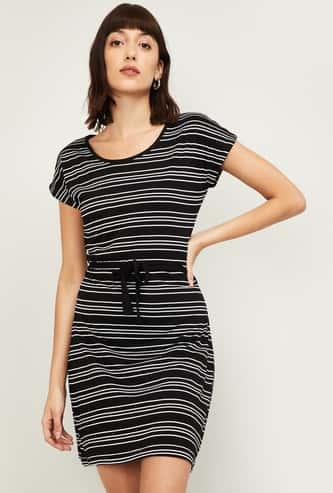 BOSSINI Women Striped T-shirt Dress