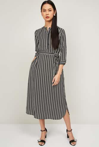 BOSSINI Striped Midi Dress