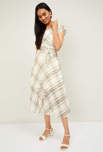 CODE Women Printed A-line Midi Dress