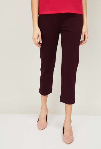 CODE Women Solid Trousers