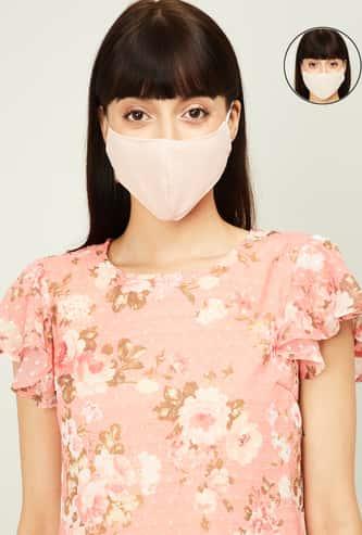 GINGER Women Textured Reusable Reversible Masks - Pack of 2