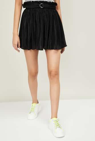 GINGER Women Textured Elasticated Skirt