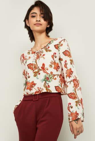 GINGER Women Printed Full Sleeves Top
