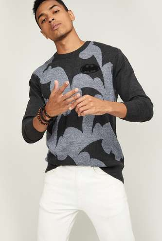 FREE AUTHORITY Men Textured Full Sleeves Sweater