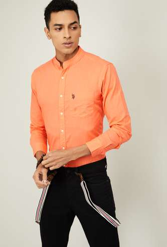 U.S. POLO ASSN. Men Slub Regular Fit Casual Shirt
