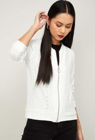 BOSSINI Women Pointelle Knitted Jacket