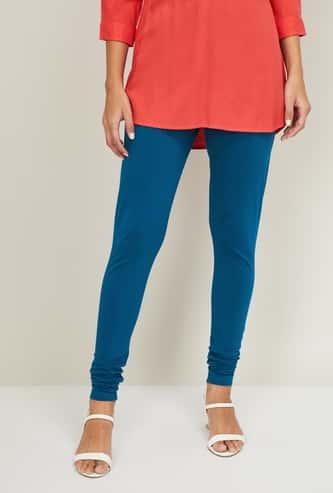 BIBA Women Solid Elasticated Leggings