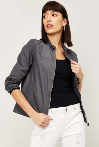 VAN HEUSEN Women Solid Woven Jacket