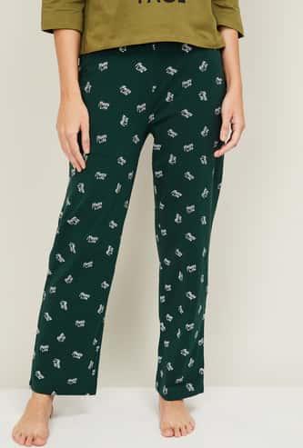 GINGER Women Printed Elasticated Lounge Pants