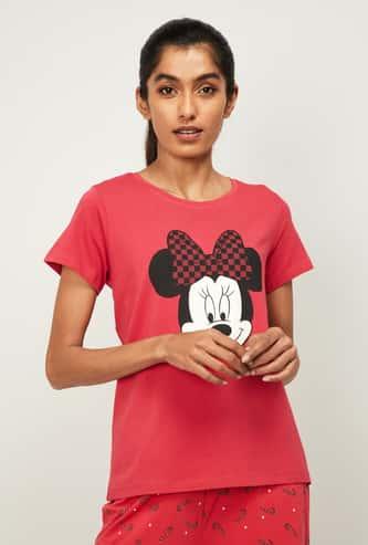 GINGER Women Printed Cap Sleeves Lounge T-shirt