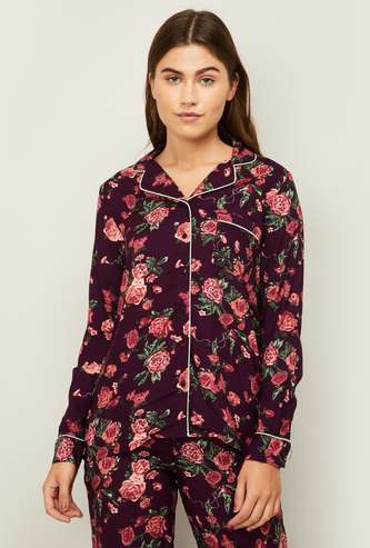 GINGER Women Floral Printed Lounge Shirt
