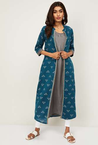 MELANGE Women Printed Shurg Layered Kurta