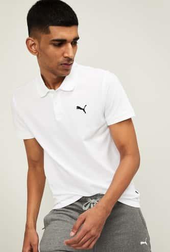 PUMA Men Ess Pique Regular Fit Polo T-shirt
