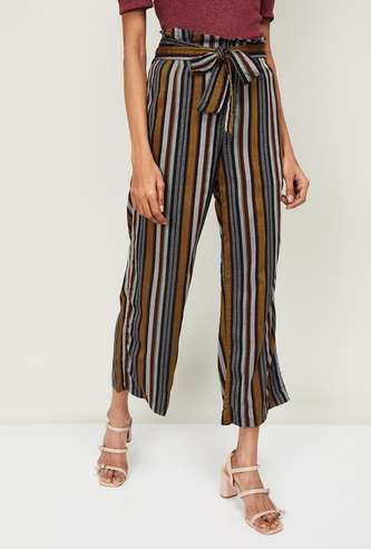 CODE Women Striped Flared Pants