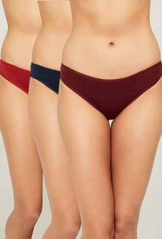 GINGER Solid Women Bikini Panties - Pack of 3