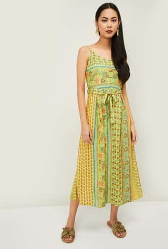 COLOUR ME Kyra Women Printed A-Line Dress