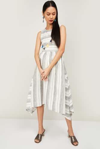COLOUR ME Women Striped A-Line Dress