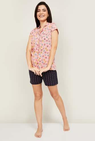 GINGER Women Printed Shorts