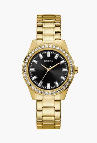 GUESS Women Embellished Analog Watch- GW0111L2