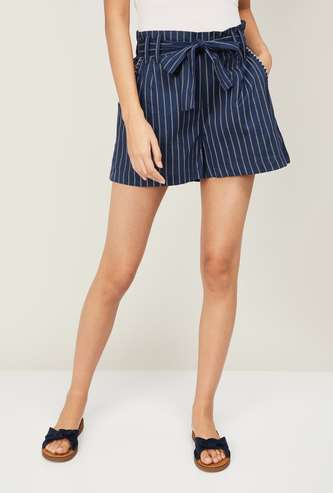 COLOUR ME Women Striped Shorts