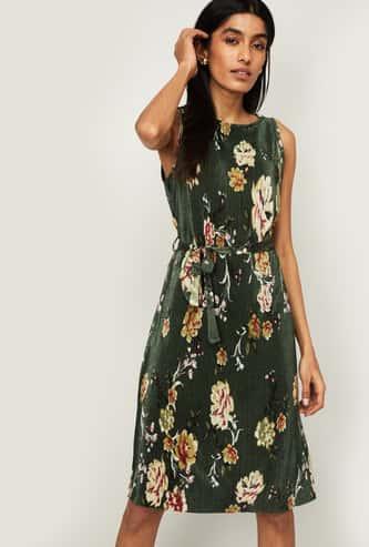 CODE Women Floral Print A-line Dress