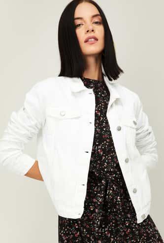 FAME FOREVER Women Solid Denim Jacket