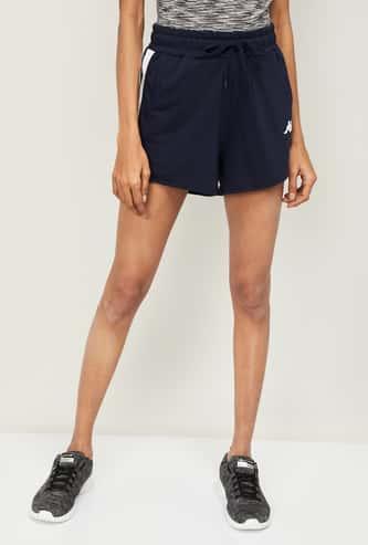 KAPPA Women Panelled Drawstring Waist Training Shorts