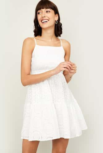 GINGER Women Schiffli Camisole Dress
