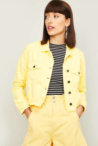 GINGER Women Solid Casual Jacket