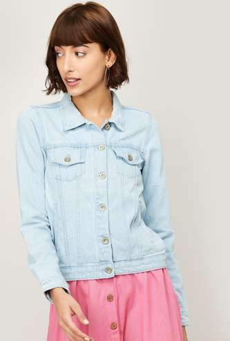 GINGER Women Solid Woven Jacket