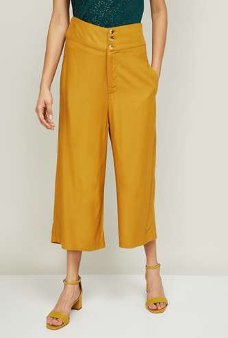 GINGER Women Solid Culottes with Pockets