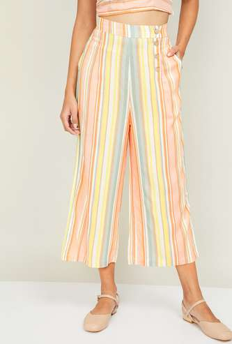 GINGER Women Striped Culottes