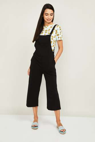 GINGER Women Cropped Dungarees