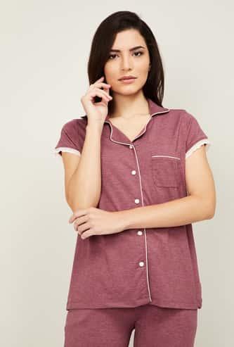 GINGER Women Solid Lounge Shirt