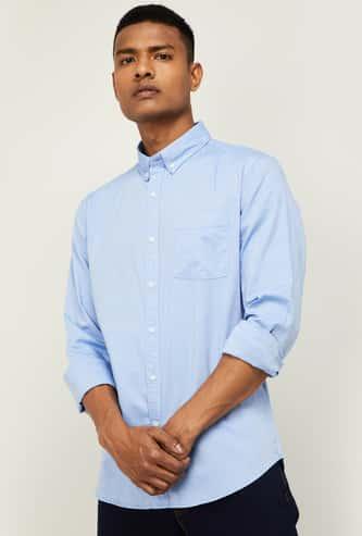 DENIMIZE Men Solid Regular Fit Casual Shirt