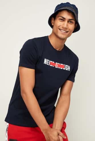 KAPPA Men Typographic Print Short Sleeves T-shirt