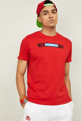 KAPPA Men Typographic Print Short Sleeves Regular Fit T-shirt