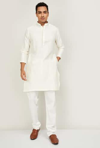 MELANGE Men Printed Full Sleeves Kurta with Churidar
