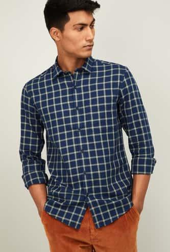 BOSSINI Men Checked Regular Fit Casual Shirt