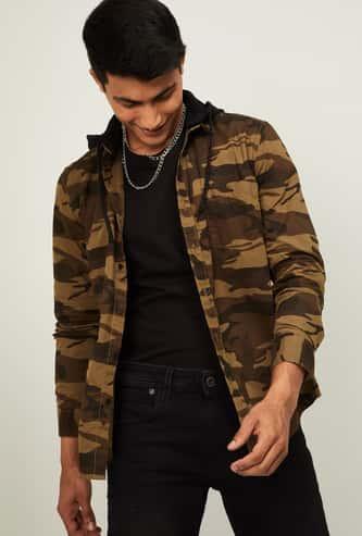 BOSSINI Men Camouflage Print Regular Fit Casual Shirt