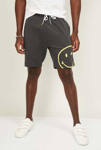 SMILEY Men Printed Elasticated Shorts