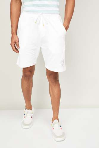 SMILEYWORLD Men Solid Slim Fit Casual Shorts