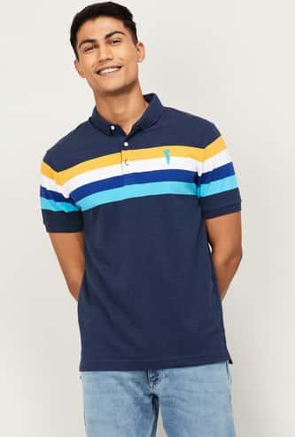 BOSSINI Men Striped Polo T-shirt